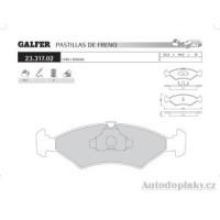GALFER zadní brzdové desky typ FDA 1045 FERRARI MONDIAL 3.0-3.2 -- rok výroby 80-93 ( brzdový systém ATE )