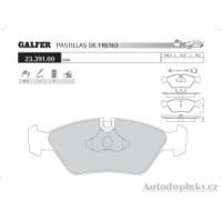 GALFER přední brzdové desky typ FDT 1055 FERRARI MONDIAL 3.0-3.2 -- rok výroby 80-93 ( brzdový systém ATE )